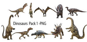 Dinosaurs Pack 01 - PNG