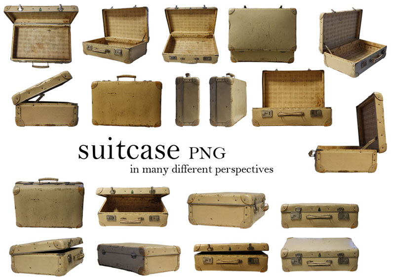 suitcase_PNG  in different perspectives