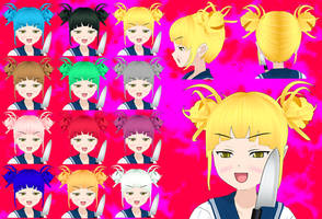 Himiko Hair pack by Daiger1975
