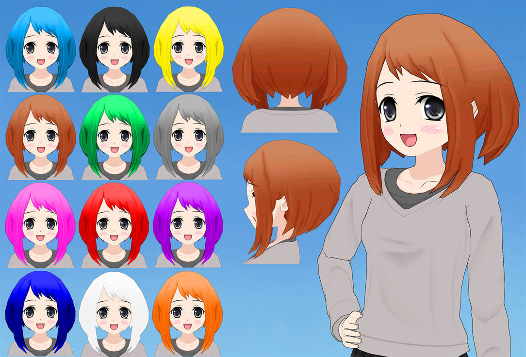 Ochako Hair pack by Daiger1975