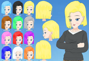 A18 Hair pack by Daiger1975