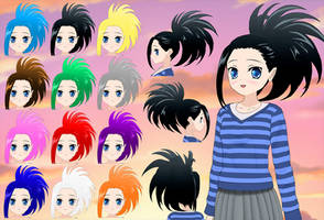 Momo Hair pack by Daiger1975