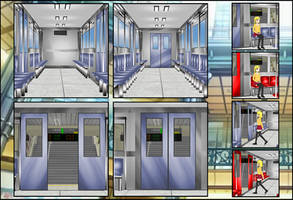 Train 3D Stage pack
