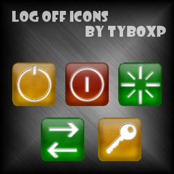 Log Off Icons by TyboXP
