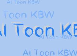 AI Toon KBW font