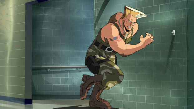 Guile: Sonic Cross animation