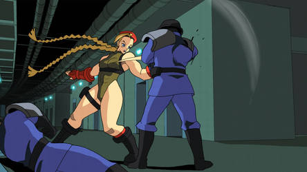 Cammy: combo animation by MightyOtaking