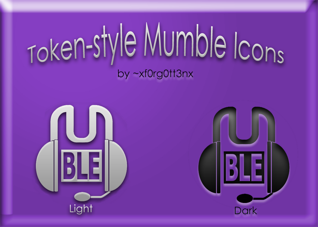 Token Mumble Icons by xf0rg0tt3nx