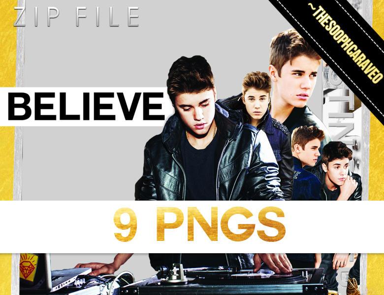 9 Justin Bieber's PNG Pack. BELIEVE. ZIP. by TheSoophCaraveo