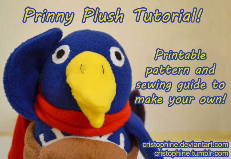 Prinny Plush Pattern and Tutorial by Cristophine