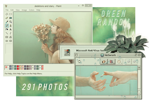 RANDOM GREEN // PACK BY REALOVEPS by realoveps