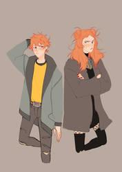 Elliott et Ashley - BnHa Oc