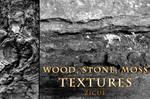 Wood Stone Moss Texture Photoshop Brushes PART 1