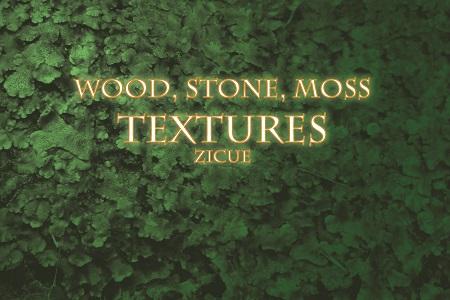 Wood Stone Moss Texture Photoshop Brushes PART 2
