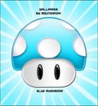 Mario Bros Blue Mushroom