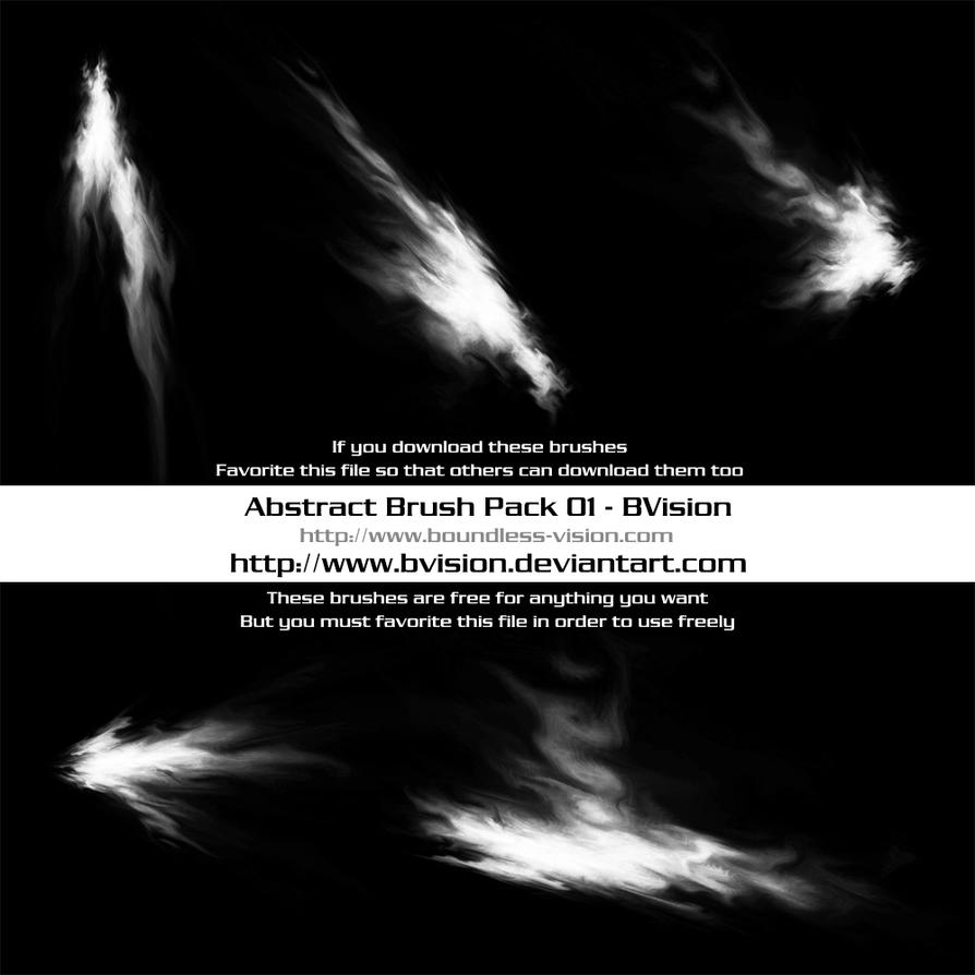Abstract Brush Pack 01 by BVision