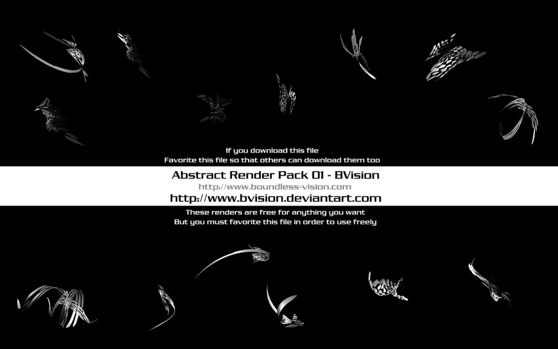 Abstract Render Pack 01 by BVision