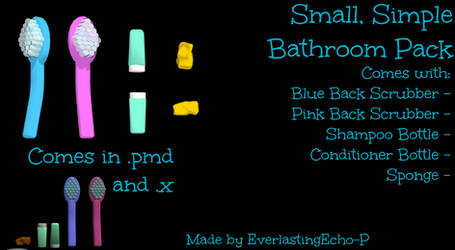 MMD - Small, Simple Bathroom Pack by PuppetPotato