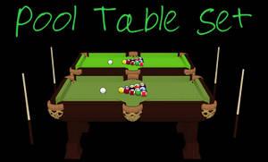 MMD Set: Pool Table Set by PuppetPotato