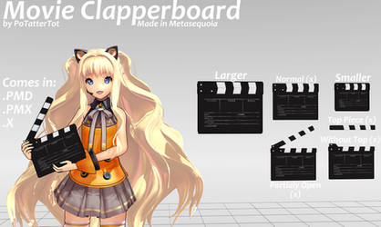 Clapperboard for MMD by PoTatterTot