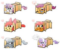 Pony Box Sprays (Cutie Mark Crusaders, transp.) by Quake-One