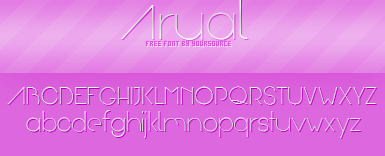 Arual Free Font by YourSource
