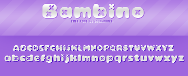 Bambino Free Font by YourSource