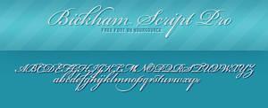 Bickham Script Pro Free Font