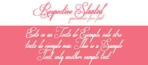 Respective Slanted Free Font