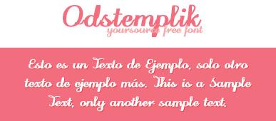 Odstemplik Free Font by YourSource