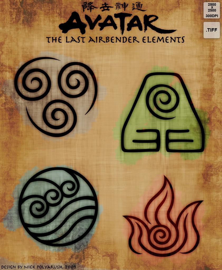Avatar Tla 4 Elements Resource By Nickpolyarush On Deviantart