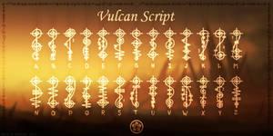 Vulcan Script Font by NickPolyarush