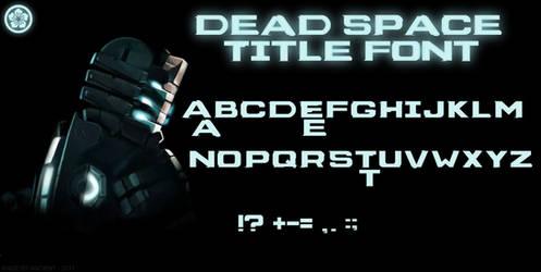 Dead Space Title Font