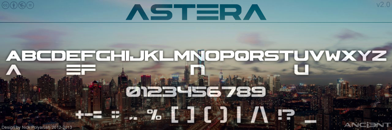 Astera Font by NickPolyarush