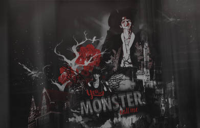 PSDSHARE1 - You can call me Monster [Baekhyun] by MiNNieeeeeeee