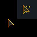 Neon Gold Cursor and Animated Cursor by dimebag41