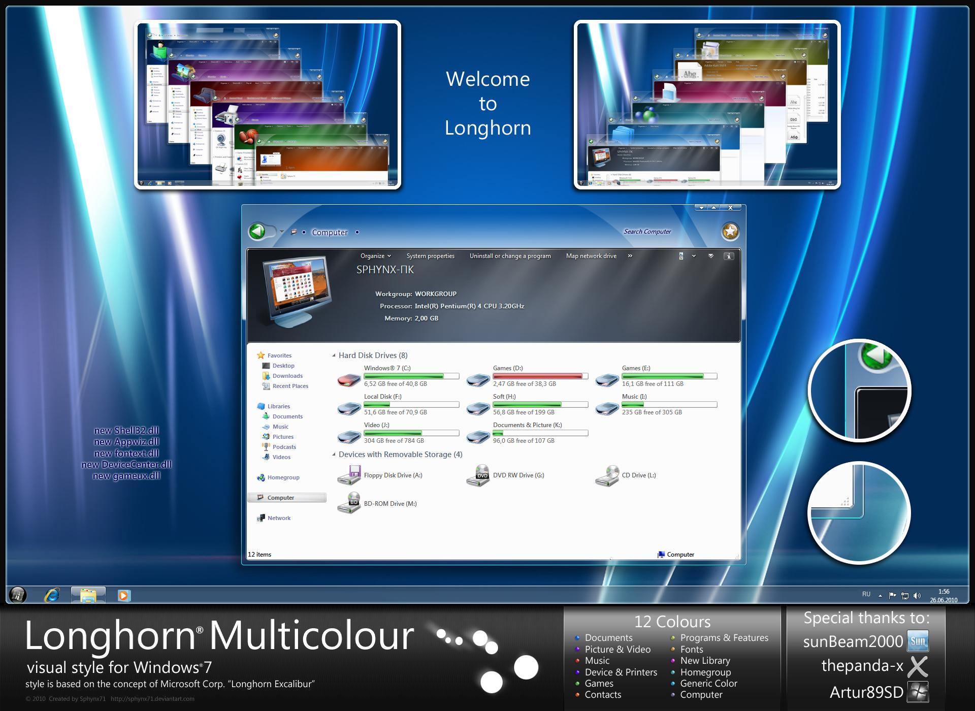 Longhorn Multicolour by Sphynx71