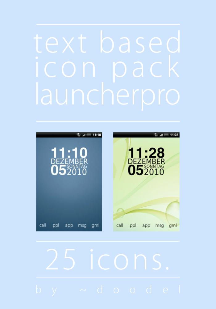 Launcherpro Icons And Docks Text Based Launcherpro Icons