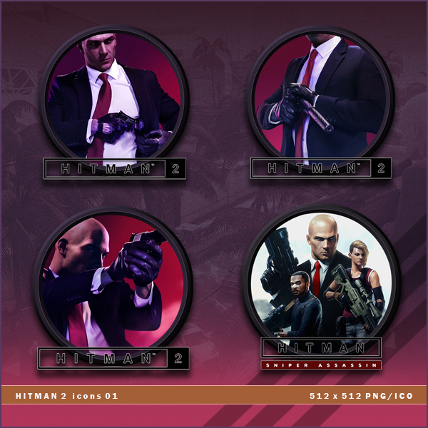 Hitman 2 Icons By Brokennoah On Deviantart