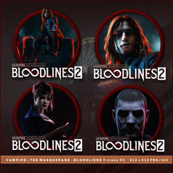 Vampire - The Masquerade - Bloodlines 2 icons by BrokenNoah