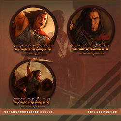 Conan Unconquered icons by BrokenNoah