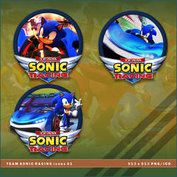 Team Sonic Racing icons by BrokenNoah