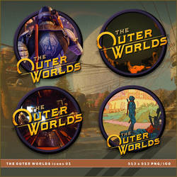 The Outer Worlds icons by BrokenNoah