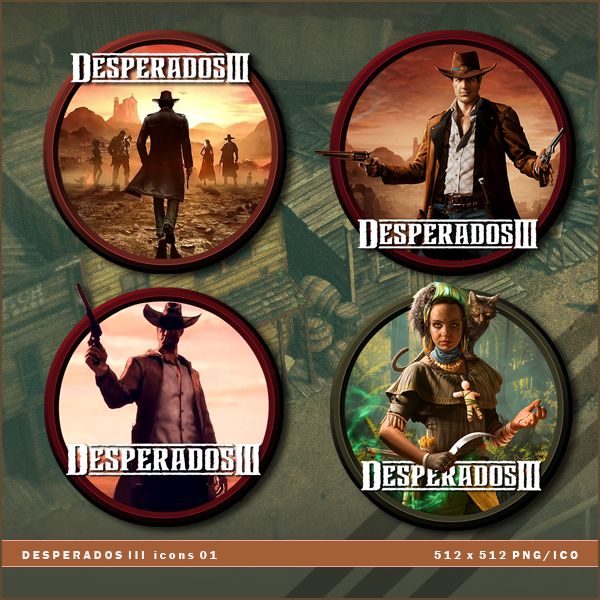 Desperados Iii Icons By Brokennoah On Deviantart