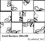 Swirl Borders Brushes