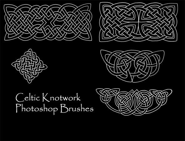 Celtic Knotwork Brush Set 1