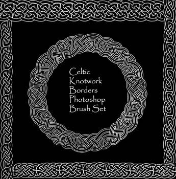 Celtic Knotwork Borders Set by PhoenixWildfire
