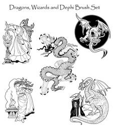Dragons and Such Brush Set