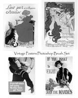Vintage Posters Photoshop Set