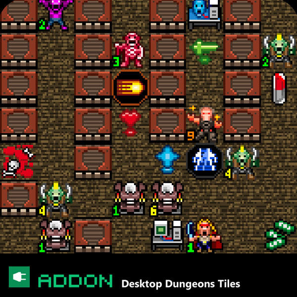 Desktop Dungeon - Strain tiles by PencilInPain